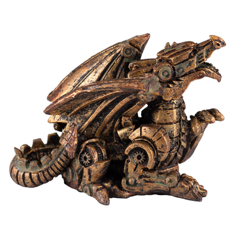 Mini Steampunk Dragon Copper Colored Figurine 4