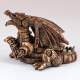 Mini Steampunk Dragon Copper Colored Figurine 5