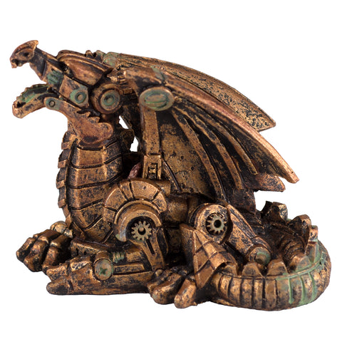 Mini Steampunk Dragon Copper Colored Figurine 1