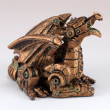 Mini Steampunk Dragon Copper Colored Figurine 2
