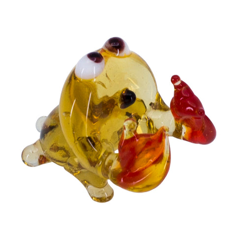 Miniature Lampwork Hand Blown Glass Crab Figurine 1