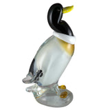 "Duck Mallard Hand Blown Glass Figurine 7.25""L"