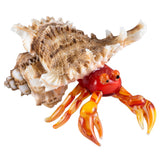 Red Hermit Crab In Natural Shell Hand Blown Glass Figurine