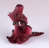 Mini Red Baby Dragon Roaring Figurine