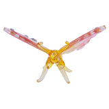 Hand Blown Glass Pink & Yellow Butterfly Figurine 3