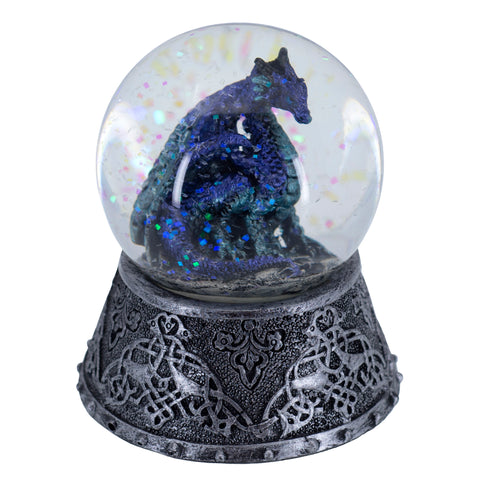 Purple and Blue Dragon Snow Globe Dome Figurine 1
