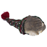 Sleeping Gray Kitten In Knit Woven Hat Cat Figurine 3