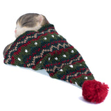 Sleeping Gray Kitten In Knit Woven Hat Cat Figurine 4