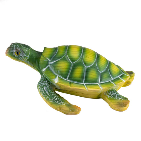 Green Sea Turtle Faux Carved Wood Look Figurine 5