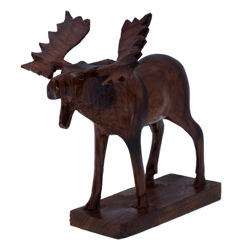 Moose Hand Carved Ironwood Wood Figurine 11