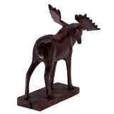 Moose Hand Carved Ironwood Wood Figurine 33