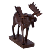 Moose Hand Carved Ironwood Wood Figurine 55