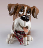Little Paws Boo Boxer Dog Figurine