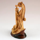 Mini Seahorse Couple Faux Wood Figurine 4