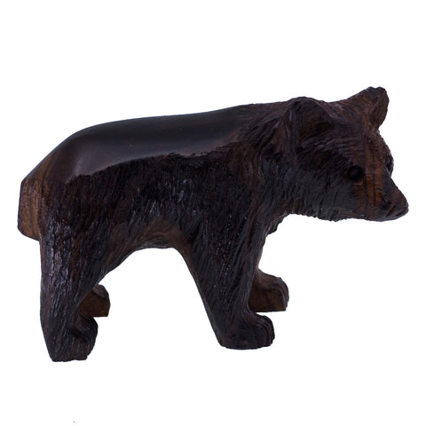 Bear Cub Hand Carved Wood Ironwood Figurine 1