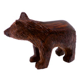 Bear Hand Carved Ironwood Wood Figurine 4