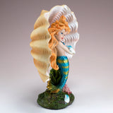 Blue Mermaid Girl In Clam Shell Figurine 3