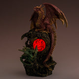Mother and Baby Dragon With LED Crystal Ball Figurine Statue 5