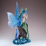 Green Mermaid With Sea Dragon Serpent Figurine 5