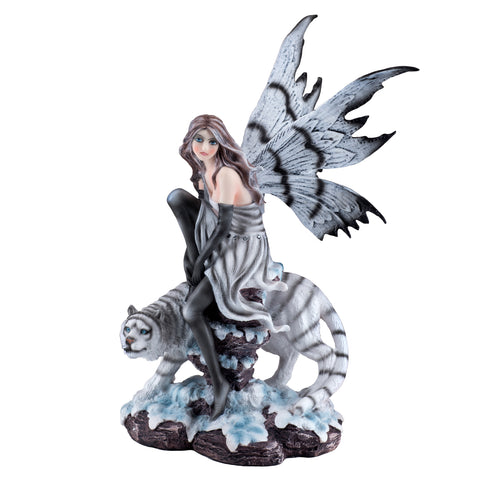 Fairy With White Tiger Figurine 1