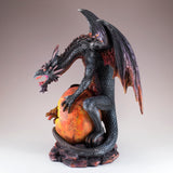 Black and Red Dragon Guarding Baby Figurine 3