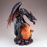 Black and Red Dragon Guarding Baby Figurine 5