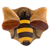 Wood Intarsia Bee Bumblebee Puzzle Trinket Box 2