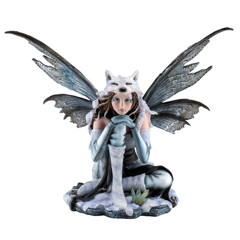White Fairy With Wolf's Cap Figurine Statue 1