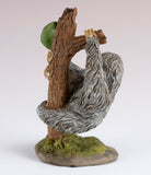 Mini Sloth Hanging In Tree Figurine 3