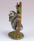 Mini Sloth Hanging In Tree Figurine 4