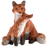 Mini Red Fox Mother With Baby Kit Pup Figurine 1