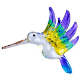 Hand Blown Glass Hanging Hummingbird Ornament Bird Figurine E1