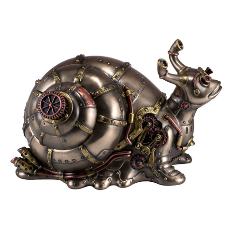 Steampunk Snail Figurine Trinket Box 1