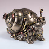 Steampunk Snail Figurine Trinket Box 2