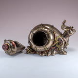 Steampunk Snail Figurine Trinket Box 6