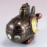 Steampunk Mini Submarine Clock Figurine 2