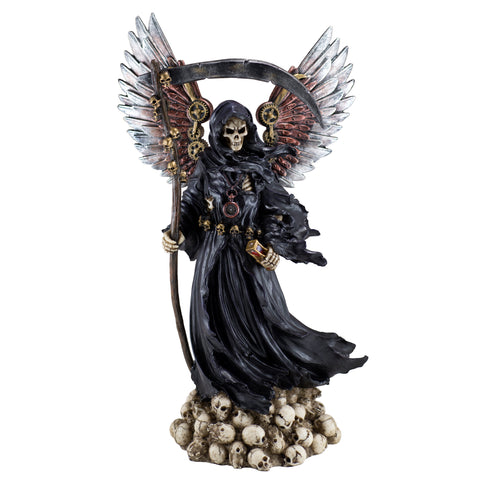 Steampunk Grim Reaper Fairy With Scythe and Skulls 1