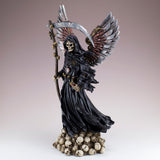 Steampunk Grim Reaper Fairy With Scythe and Skulls 2