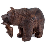 Bear wood carving 1092c