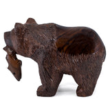 Bear wood carving 1092d