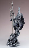 Silver Dragon Figurine Statue With Sword 5