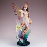 Mermaid Fairy With Seahorse Sea Dragon Figurine 2