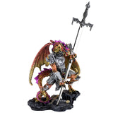 Orange Dragon In Armor Figurine Statue With Sword