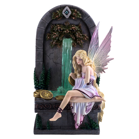 Fairy Wishing Well With LED Fountain Figurine 1