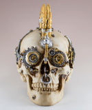 Steampunk Skull With Bullets and Gears Figurine