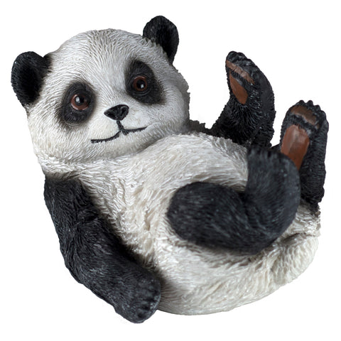 Panda Bear On Back Figurine