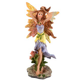 Small Purple Fairy Holding Hair Up Figurine 1