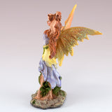Small Purple Fairy Holding Hair Up Figurine 3