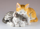 Two Sleeping Kittens Cat Figurine