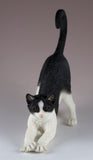 Black and White Cat Stretching Figurine 3